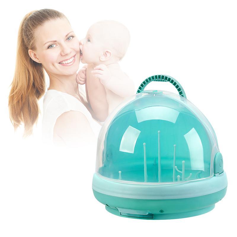 Baby Portable Bottle Drying Racks with Anti dust Cover Large Nursing Bottle Storage Box Baby Dinnerware