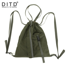 DITD Hot Fashion Drawstring bags Rope Bundle Pocket Bag Men's and Women's General Fitness Leisure Travel bag Mochila 0711