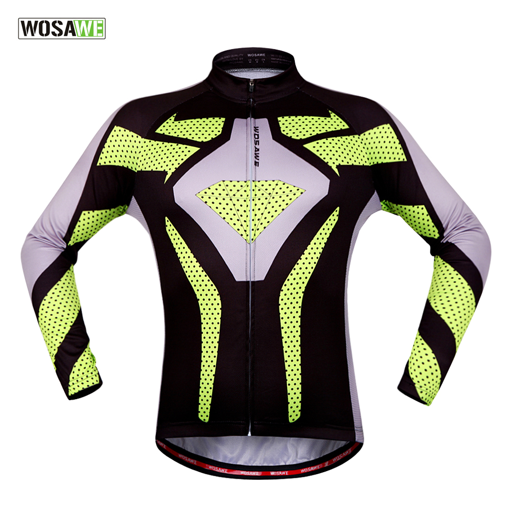 WOSAWE Pro Cycling Jersey Long Sleeve MTB Road Bike Clothing Wear Fall Breathable  Bicycle Clothes Ropa e8440a8f1