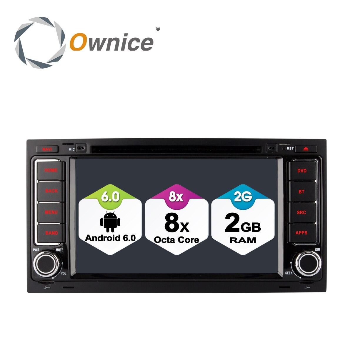 Ownice C500 Android 6.0 Octa Core 32g R0M Voiture Lecteur DVD pour Volkswagen Touareg T5 Multivan Transporter GPS Navi 4g LTE Réseau