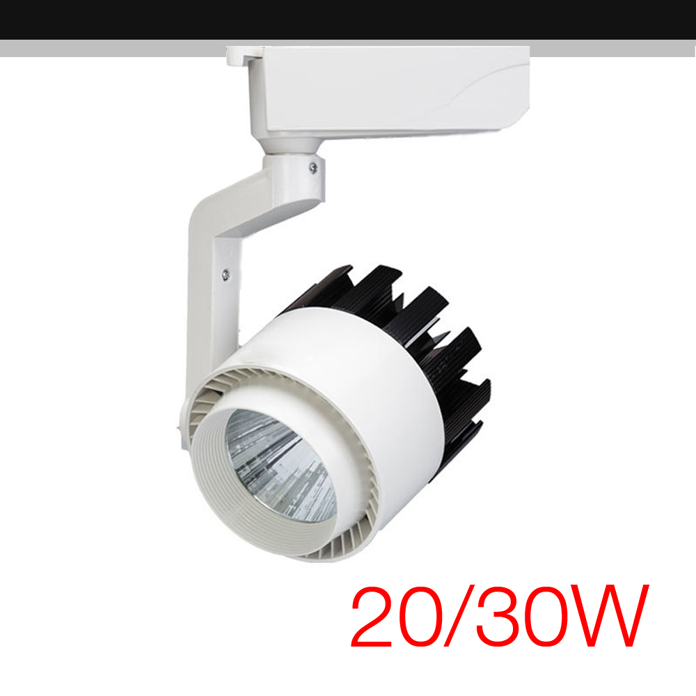 Commercial Grade Led Track Lighting: High Power COB LED Track Light 20W / 30W Track Rail