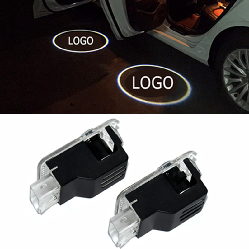 2pcs LED Car Door Welcome Light Laser Projector Ghost Shadow Lamp For <font><b>Audi</b></font> A3 A4 B6 B8 B7 A6 C6 C5 A7 <font><b>A8</b></font> A5 Q3 Q7 Q5 80 sline image