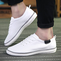 2016 Men Shoes Soild Fashion Basic PU Leather Casual Shoes For Man Comfort Flats zapatos hombre 3 Color Size 39-44 -A
