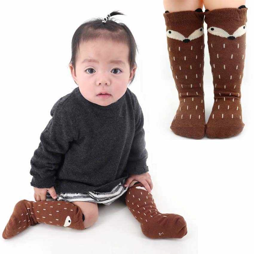 Newest Active Baby Girls Breathable Socks Knee High with Bows Cute Baby Long Tube Kids Cotton Warmers 0-6 Years