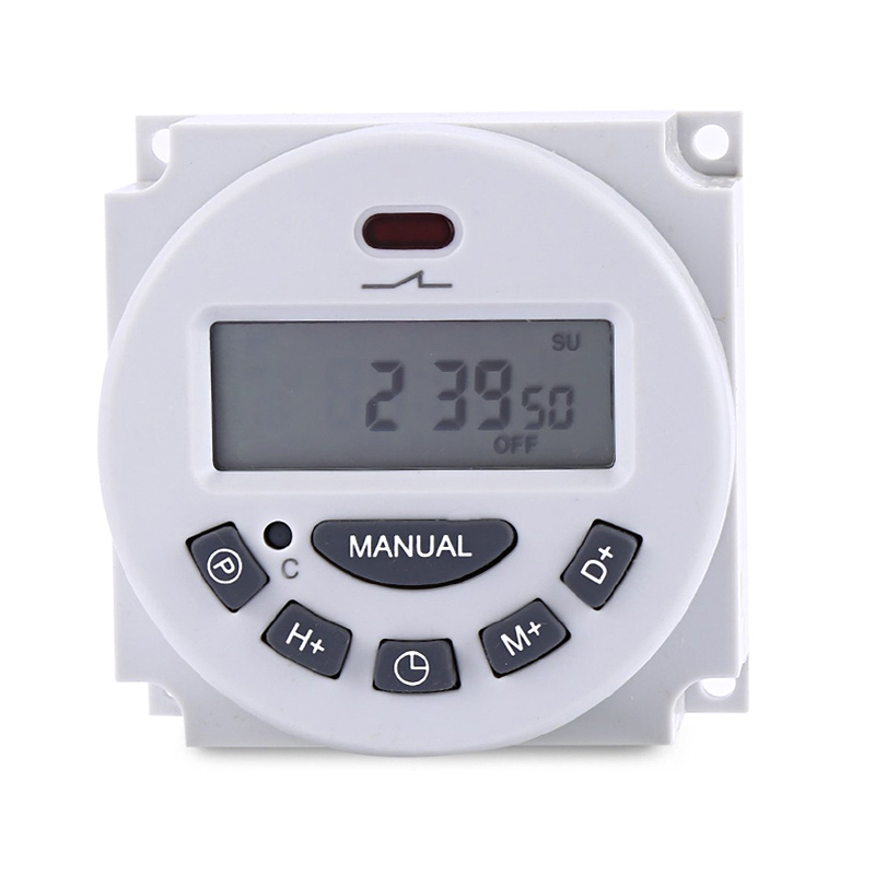 L70 timer switch DC AC Digital LCD Power Timer Programmable Time Switch Relay 16A timers 16 groups of programs 12V 24V 110V 220V ac 220v digital lcd power timer programmable time switch relay 16a good temporizador din rail ahc15