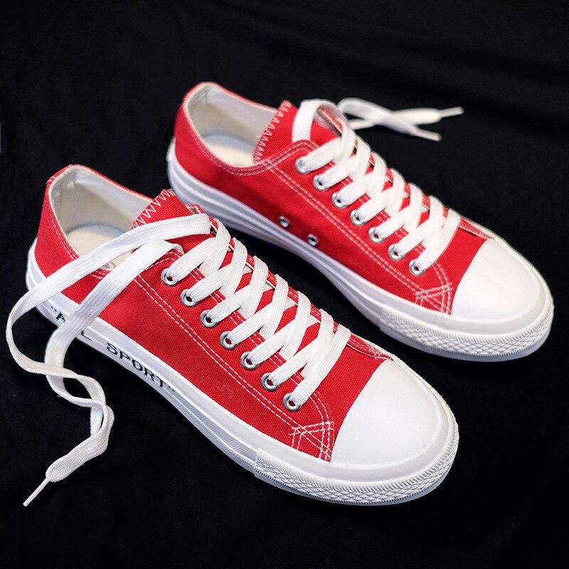 Lacets Automne En Sneakers À L'usure rouge Hommes Toile Décontractées Chaussures blanc Résistant Mode Homme bleu Noir Printemps Nouvelle Pour Eq0Pzq
