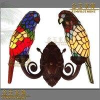 Европейский сад попугай Тиффани Витражи Бра проходу исследование столовая освещения
