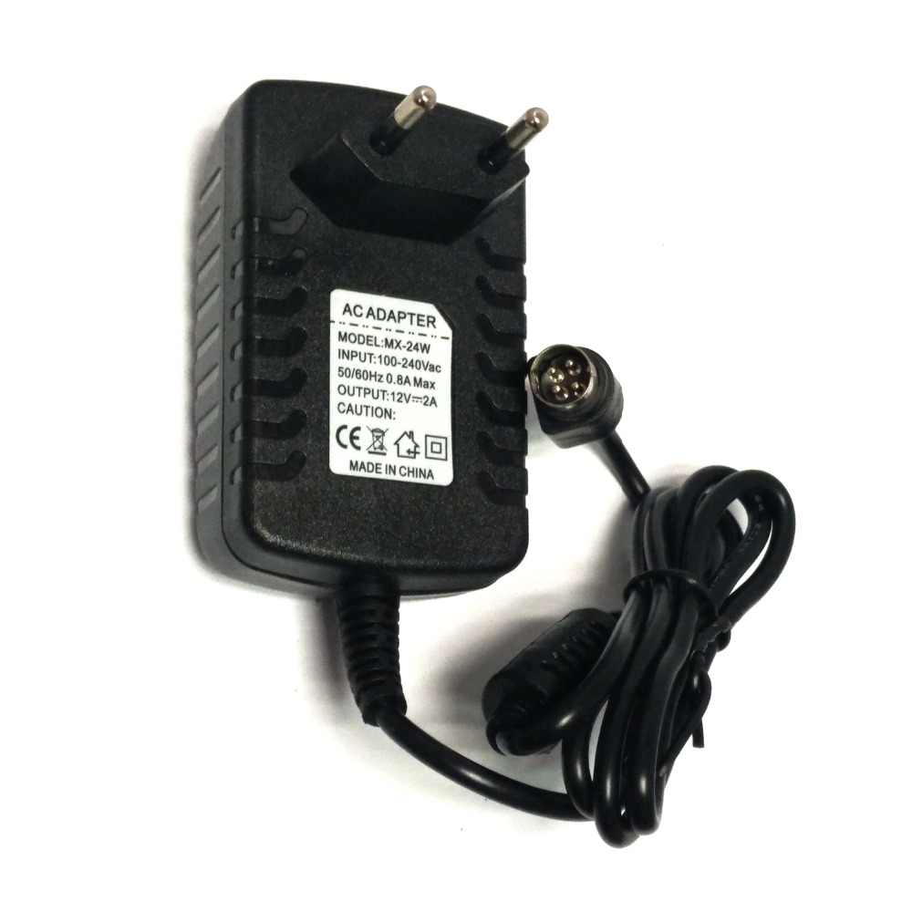 EU Power Adapter 12V 2A 4 PIN for Hikvision video recorder 7804 7808H-SNH  cwt KPC-024F DVR NVR power adapter charger
