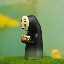 hot deal buy 4cm height lovely faceless man with gold in it's hand action toy figures miyazaki cartoon princess mononoke kids gifts wholesale