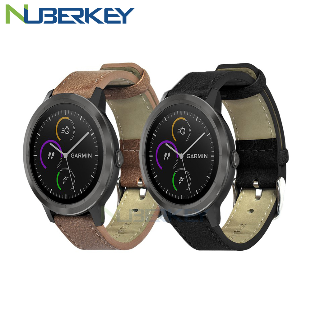 Retro Leather Replacement Strap For Garmin Vivoactive3 3 HR Smart Wristband For Garmin Forerunner 645 Music Sporting Wrist Strap
