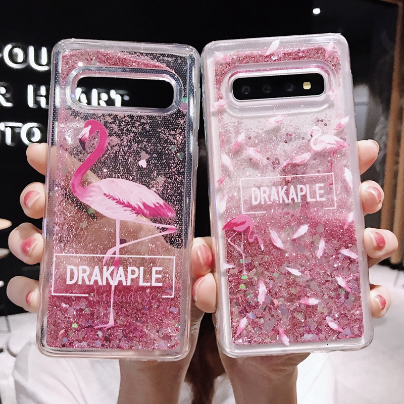 Líquido de silicona caso para Samsung Galaxy A6 J6 J4 Plus A8 S10 S9 S8 S7 borde Nota 9 8 30 50 M 10 20 30 J2 J5 Flamingo arena Shell