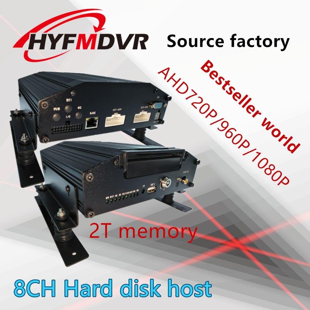 Hikvision supply ship van million HD wireless video surveillance equipment AHD 960P 720P car DVR