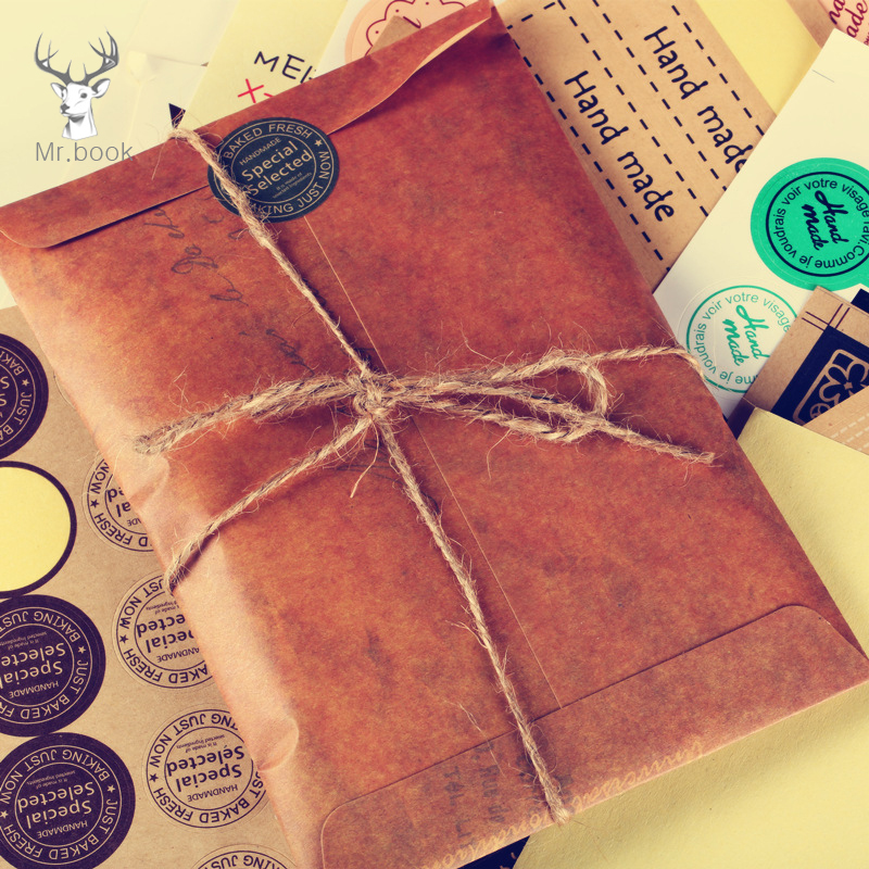 10PCS/lot Vintage Envelope Creative Old Kraft Paper Envelopes DIY Decorative Envelope Small Paper School Office Supplies