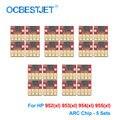 5 комплектов чип ARC для HP 952 953 954 955 952XL 953XL 954XL 955XL Постоянный чип для HP 7740 8210 8710 8715 8720 8725 8730 8740