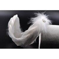 Swan Lake Hand Made Ballet White Feather Headband In Woman's Hair Accessories,Princess Headdress Nutcracker Feather Headpiece