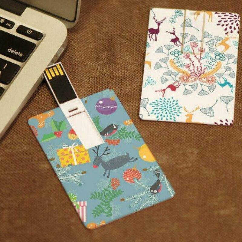 Custom Logo Credit Card Usb Thumb Drive Wedding Gift 4GB/8gb/32gb/64gb Flash Memory Stick With Your Logo Both Sides Printing