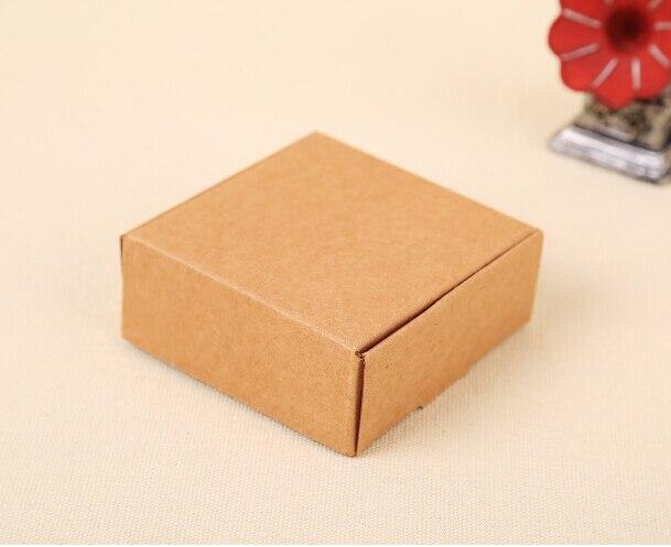 200pcs 5.8*5.8*3.2cm Small kraft cardboard box, brown paper small ...