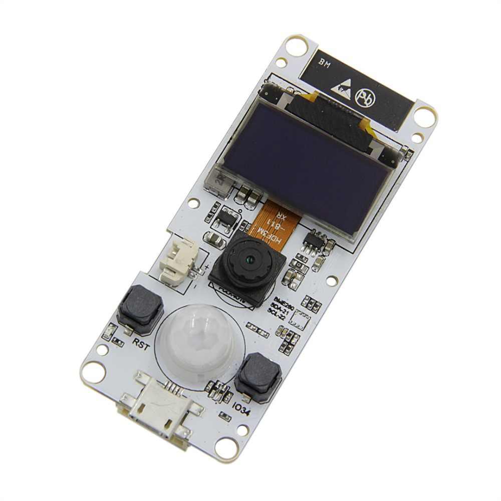TTGO T-Camera ESP32-WROVER-B & PSRAM Camera Module ESP32 WROVER OV2640  Camera Module 0 96 OLED