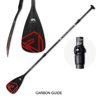 Aqua marina light weight carbon guide paddle 3 pieces Adjustable Travel Stand Up Paddle SUP for surfing board