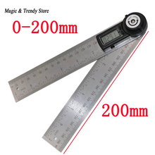 Promo offer 2 IN 1 digital angle ruler 360 degree 200mm electronic digital angle meter angle