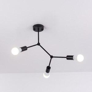Image 1 - רב ראשי תקרת אורות Led תקרת מנורת רטרו תעשייתי Luminaria אישיות Lamparas לסלון Plafonnier אורות