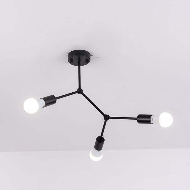 רב ראשי תקרת אורות Led תקרת מנורת רטרו תעשייתי Luminaria אישיות Lamparas לסלון Plafonnier אורות