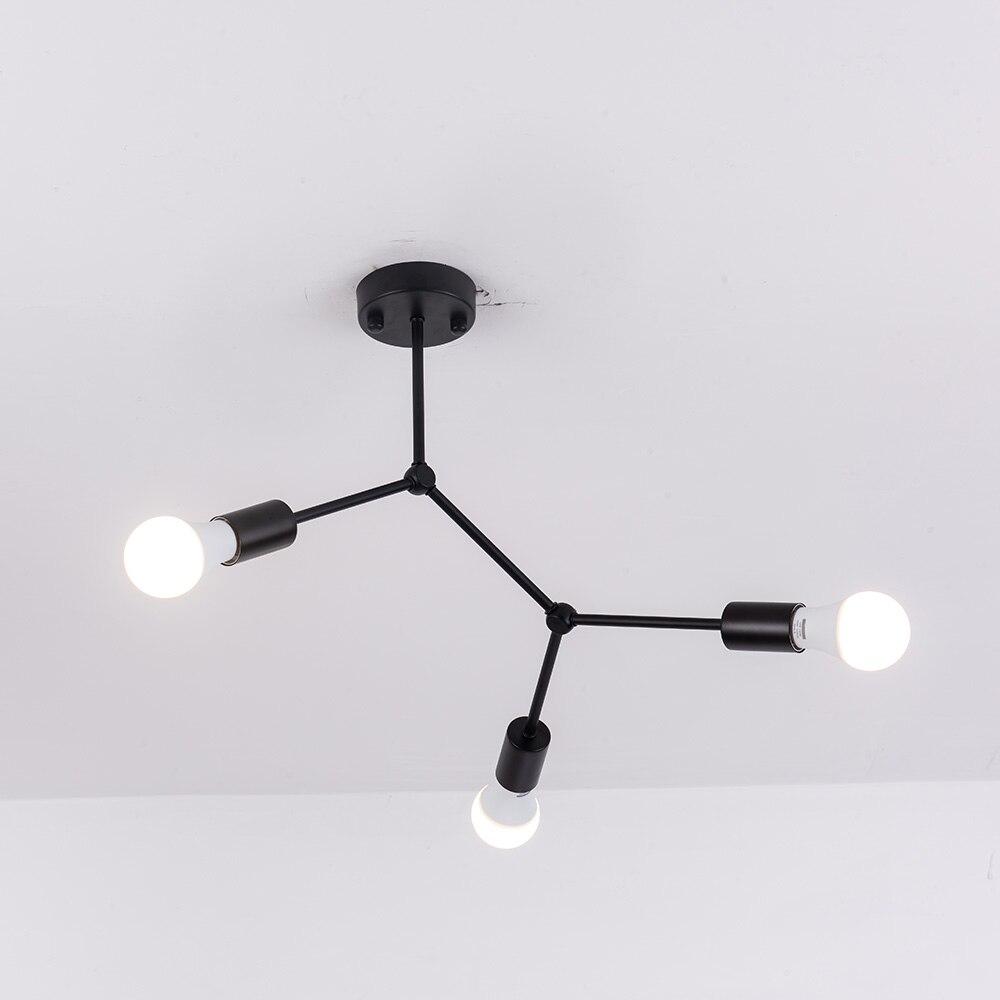 Multi-têtes plafonniers Led Plafonnier rétro industriel Luminaria personnalité lampara pour salon Plafonnier