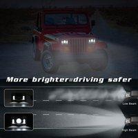 Высокое качество 4X6 150 Вт 5 дюймов квадратный светодиодный грузовик фургон фары внедорожный рабочий свет объектив бинокль