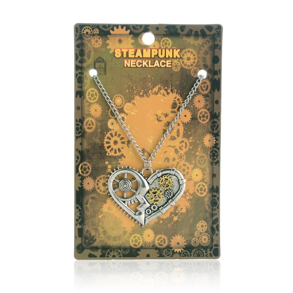 Steampunk stiilis südame, liblika või öökulliga kaelakett