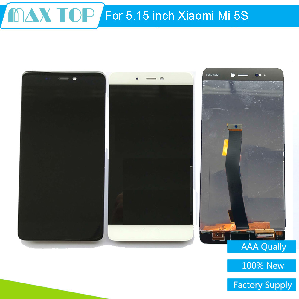 ФОТО For Xiaomi Mi5S LCD Display + Touch Panel Digitizer Assembly +Frame Replacement For 5.15 inch For  Xiaomi Mi 5S Smartphone