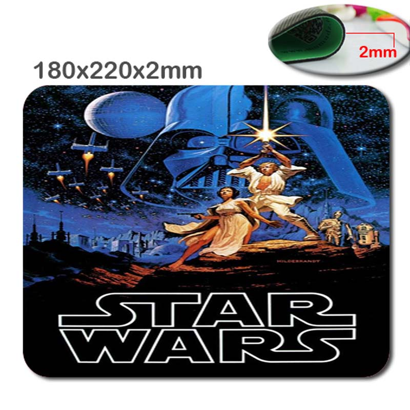 Hot Sell New Arrivals Rectangle Rubber star wars Gaming Large Soft Mouse Pad Mat Non-slip accessory luxury gift 220*180*2mm