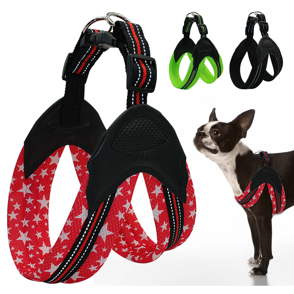 Reflective Dog Harness Security Padded Mesh Soft Dog Vest For Medium Large Dogs Chest For 62-69cm Red Green Black ...