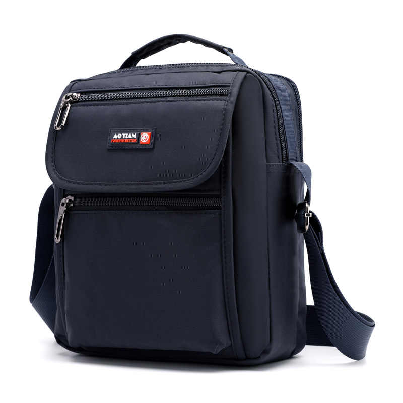 New Arrival Men's Shoulder Bag Waterproof Nylon Multi-layer Crossbody Bag For Men Black Small Casual Travel Bag Men bolso hombre