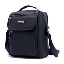 New Arrival Mens Shoulder Bag Waterproof Nylon Multi-layer Crossbody For Men Black Small Casual Travel bolso hombre