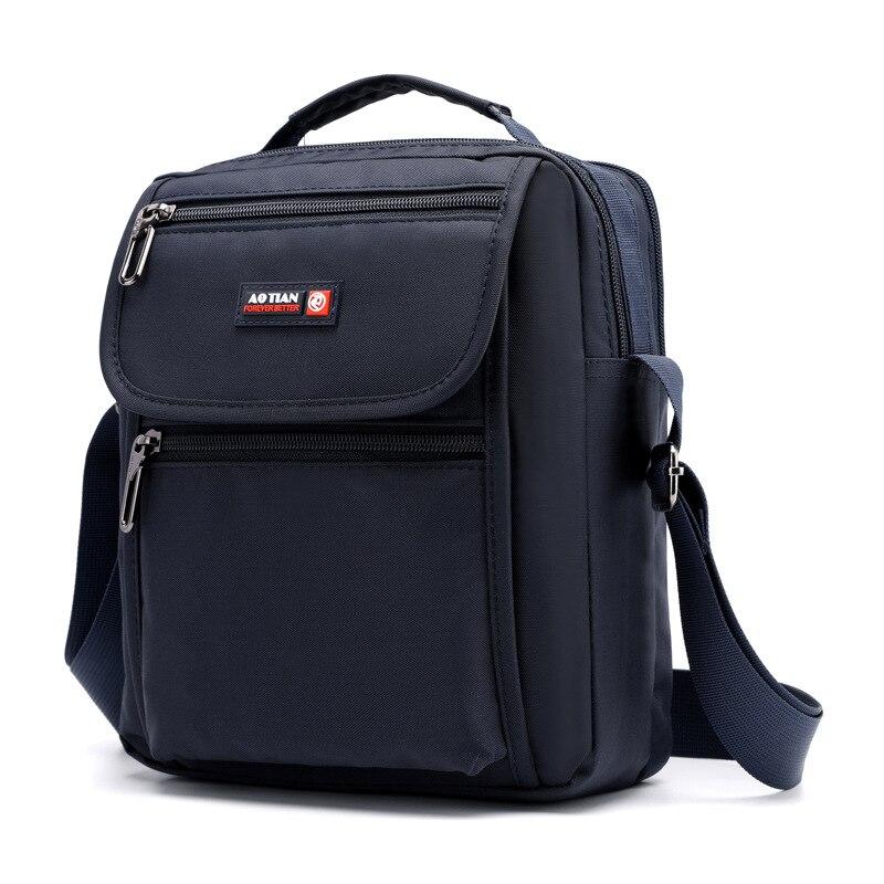 Nova chegada bolsa de ombro masculina à prova dwaterproof água náilon multi-camada crossbody saco para homens preto pequeno casual bolsa de viagem