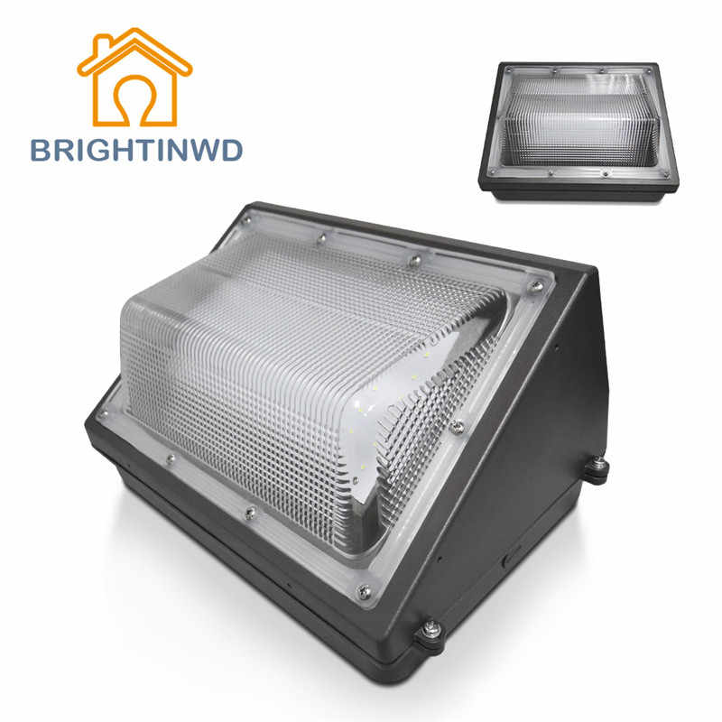 BRIGHTINWD 30W 40W 50W 60W 80W 100W AC 100-277V LED Wall Pack Flood Light IP65 Waterproof Outdoor Wall Lamp Floodlight Lighting