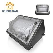 BRIGHTINWD 30W 40W 50W 60W 80W 100W AC 100-277V LED Wall Pack Flood Light IP65 Waterproof Outdoor Wall Lamp Floodlight Lighting