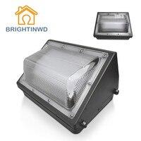 BRIGHTINWD 30W 40W 50W 60W 80W 100W AC 100 277V LED Wall Pack Flood Light IP65 Waterproof Outdoor Wall Lamp Floodlight Lighting