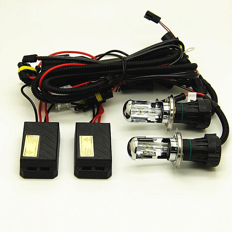 mini fast bright bixenon H4 high low beam H4 3 55W auto xenon headlight H4 6000K