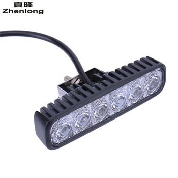 2PC LED 12V 18W LED Car Light Daytime Running Lamp Work Car Ceiling Lamp 6LED Fog Led Waterproof White Light Floodlight Portable