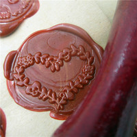 DIY Love Flower Heart Customize Box Set Personalized Double Letter Sealing Wax Wedding Wax Seal Stamp