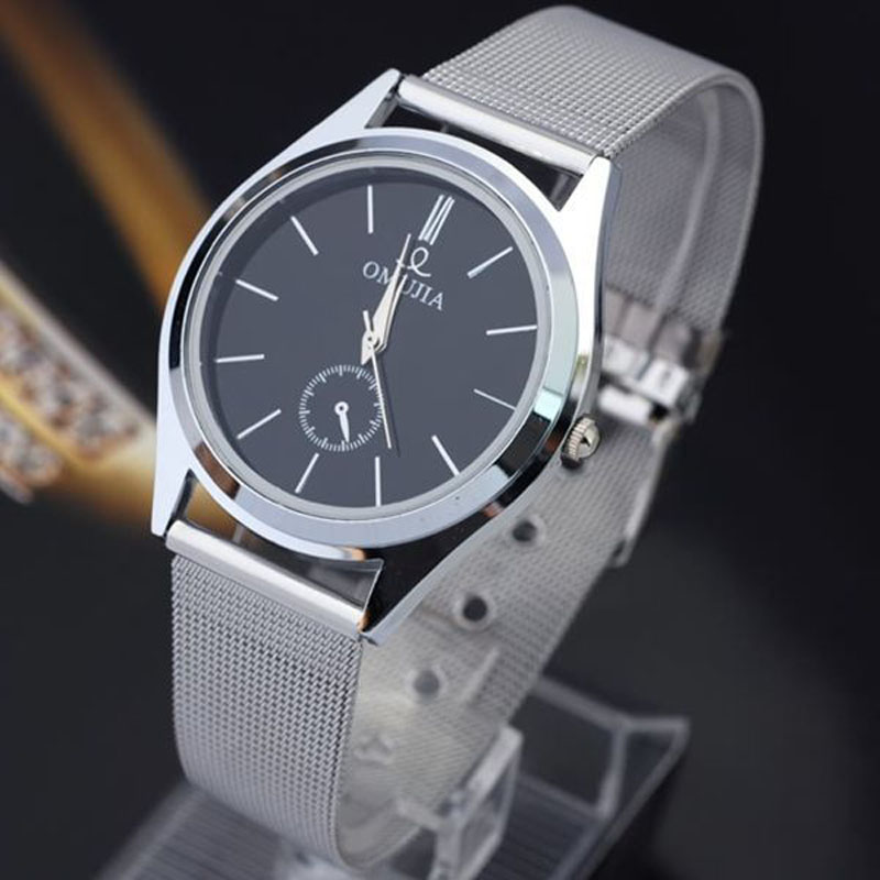 OTOKY 2018 NEW SLIVER Stainless Steel Sport Quartz Hour Wrist Analog Watch Fashion Causal Business Watches Band MAY17