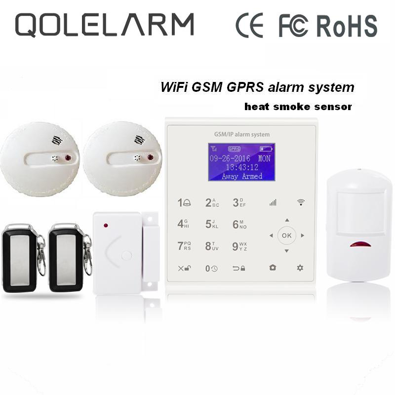 433mhz Wireless smart home anti-theft security sms gprs wifi gsm alarm system Android/IOS APP control Cloud service fire alarm wireless service call bell system popular in restaurant ce passed 433 92mhz full equipment watch pager 1 watch 7 call button