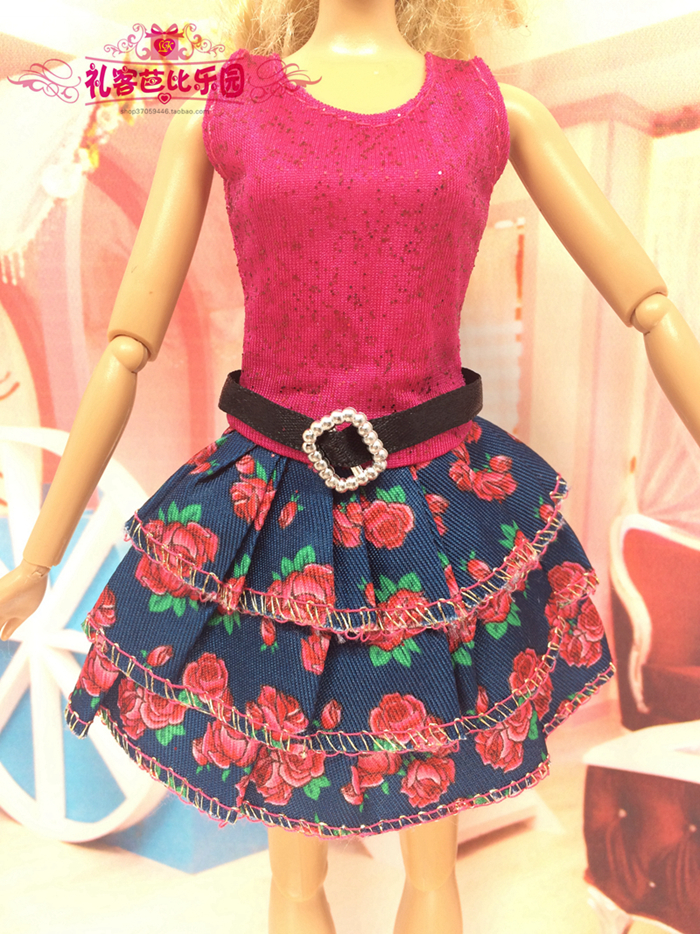 2016 Finest Little one Ladies toys Latest Doll Gown Lovely Handmade Celebration ClothesTop Style Gown For Barbie Noble Doll