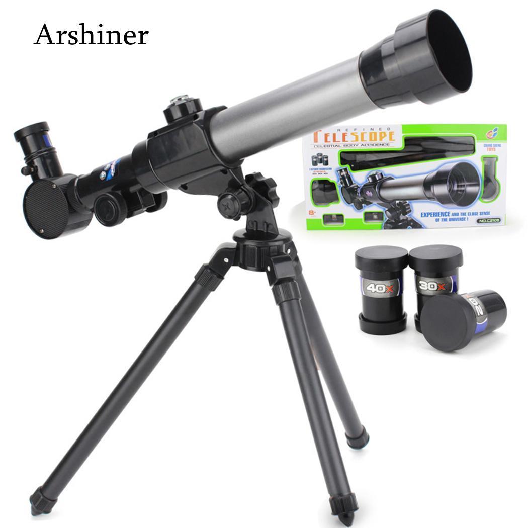 5 cm Spielzeug Mit Rotation Grad Praktische Stativ 360 Jahre Alt 2 zoll 20X 30X Pädagogisches Teleskop Spielzeug 40X Kinder 5