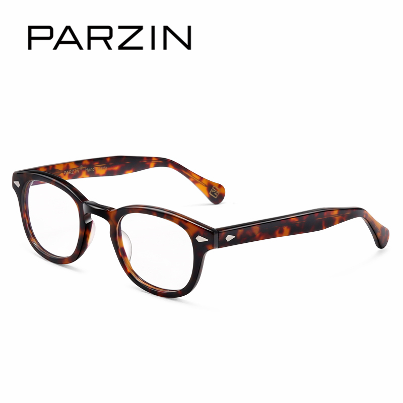 24622457d42 PARZIN Fashion Square Myopia Glasses Frames With Clear Lenses Brand Design Eyewear  Prescription Frames Online Shop 5012-in Eyewear Frames from Men s ...