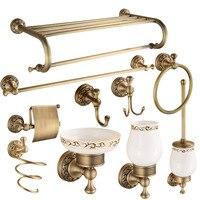 Классический античный бронзовый набор аксессуаров для ванной комнаты, все в одном наборе, один клик заказа, бесплатная доставка