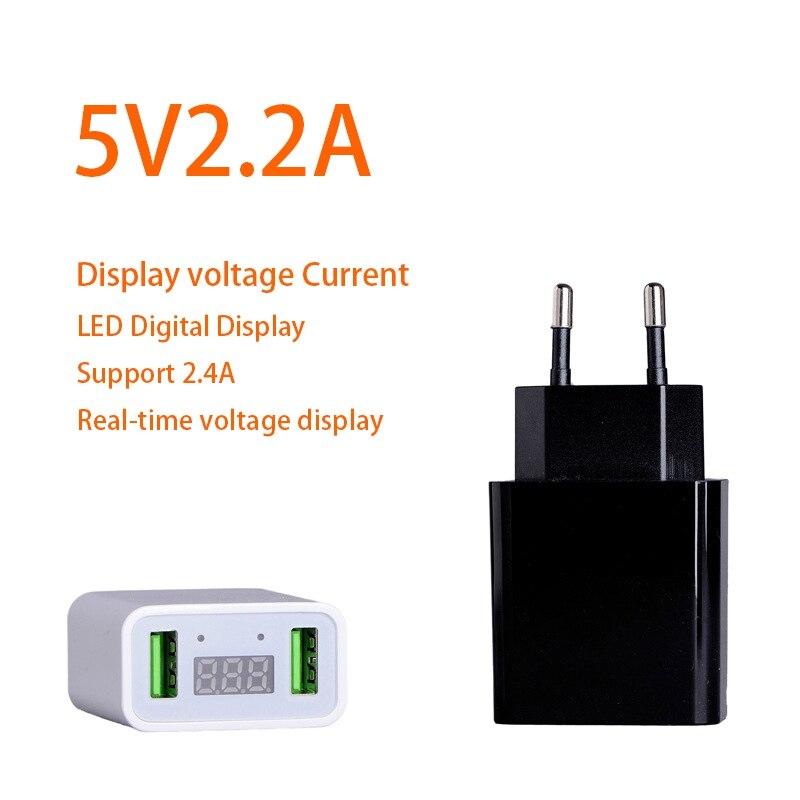 Светодиодный Дисплей 2 USB телефон Зарядное устройство EU/us Подключите Max 2.2A Smart Быстрая зарядка мобильных стены Зарядное устройство для iphone iPad
