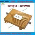 FDD 2G GSM de Banda dupla 900 MHz + 3G WCDMA 2100 MHz Repetidor Repetidor de sinal de celular GSM 3G Cell Phone Signal Booster amplificador