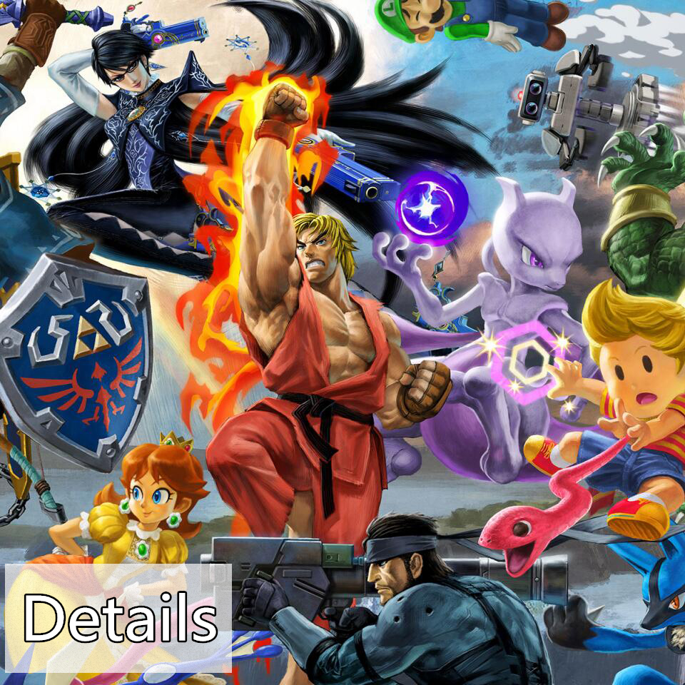 Newest Super Smash Bros Ultimate Update Art Video Game Poster Cartoon Pictures Artwork Canvas Paintings Wall Art for Home Decor 3